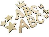 7cm DIY Buchstabenrohling I Holzbuchstaben zum bemalen I Als Wunschname individualisierbar I Tolle Holzmotive zubuchbar I Buchstaben von A-Z vorhanden auch Zahlen und Sonderzeichen wie &,?,! usw.