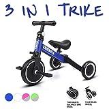 KORIMEFA 3 en 1 Triciclo para Niños Equilibrio para Niños y Niñas de 1 a 3 años Plegable y Ligero y portátil con CE Certificación