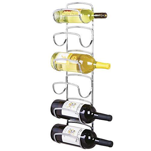 silver wine rack wall - 3