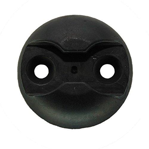 kuriershop Zurrplatte Zurrpunkt, Aluminium, rund, schwarz eloxiert, 1 Haltepunkt - Ladungssicherung, Befestigung v. Endbeschlägen