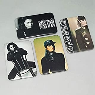 Janet Jackson Rhythm Nation 1814 Set Of 5 Custom Button Badge 80's MTV Video Escapade Backpack Band Pins Gift Birthday