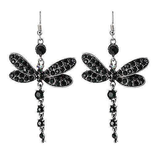 Tuuu Hook Dangle Earrings for Women Girls, Vintage Tassel Butterfly Rhinestone Dangle Earrings Charms Earrings Statement Jewelry