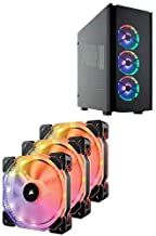 CORSAIR Obsidian Series 500D RGB SE Mid Tower Case, Premium Tempered Glass and Aluminum, LL120 Fans and Commander PRO Included and Corsair CO-9050067-WW  HD Series, HD120 RGB LED, 120mm High Performance RGB LED PWM three fans with controller