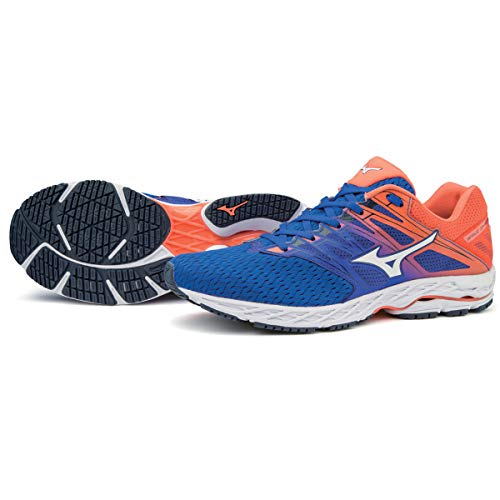 Mizuno Wave Shadow 2 Reflex Blue White Nasturtium 44.5