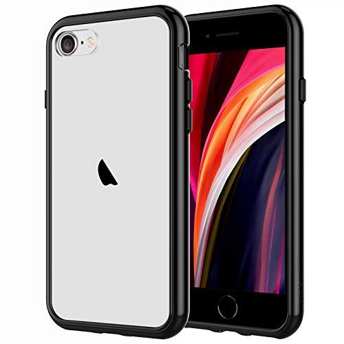 JETech Cover Compatibile iPhone SE 2a Generazione / 7/8, Custodia con Paraurti Assorbimento Degli Urti e Anti-Graffio, Nero