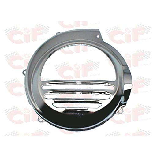Tapa de ventilador de hierro cromado CIF compatible con Piaggio Vespa PX 125 Arcobaleno