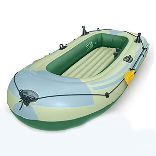 NINAINAI Kayak Inflable 2-4 de manivela Gente de Pesca Inflable for Barcos Kayak 198x122cm, 272x152cm Rafting Al Aire Libre (Color : Green, Size : 198x122cm)