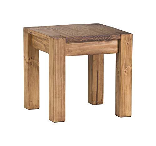MiaMöbel Couchtisch Mexico Möbel 46x46x46 cm Landhausstil Massivholz Pinie Honig