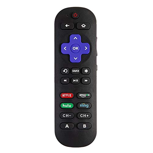 Universal Remote Control Compatible with Roku Player with 9 More Learning Keys to Control TV Soundbar Receiver All in One (Fit for Roku 1 2 3 4 Premier+ Express Ultra)【NOT for roku Stick roku TV】