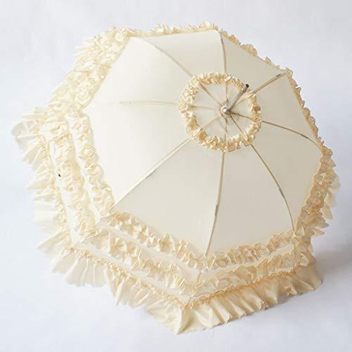Trouwen paraplu Bruidsmeisje Bruids paraplu Cos kant prinses Kant Roze paraplu