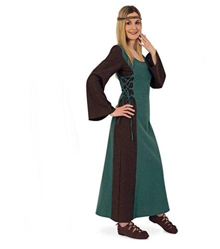 KarnevalsTeufel Mittelalter Maid Damen-Kostüm Mittelalter-Kleid Damen-Outfit grün lang (M)