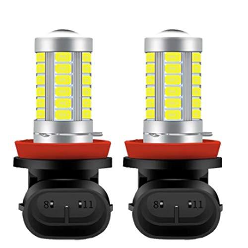GCS Gcsheng 2 unids H8 H8 H11 LED Bulbos HB4 9006 HB3 9005 H16 JP H9 Luces de Niebla Conducción 5730 33SMD Lámpara de Cola Aparcamiento Aparcamiento 12V Auto 6000K Blanco