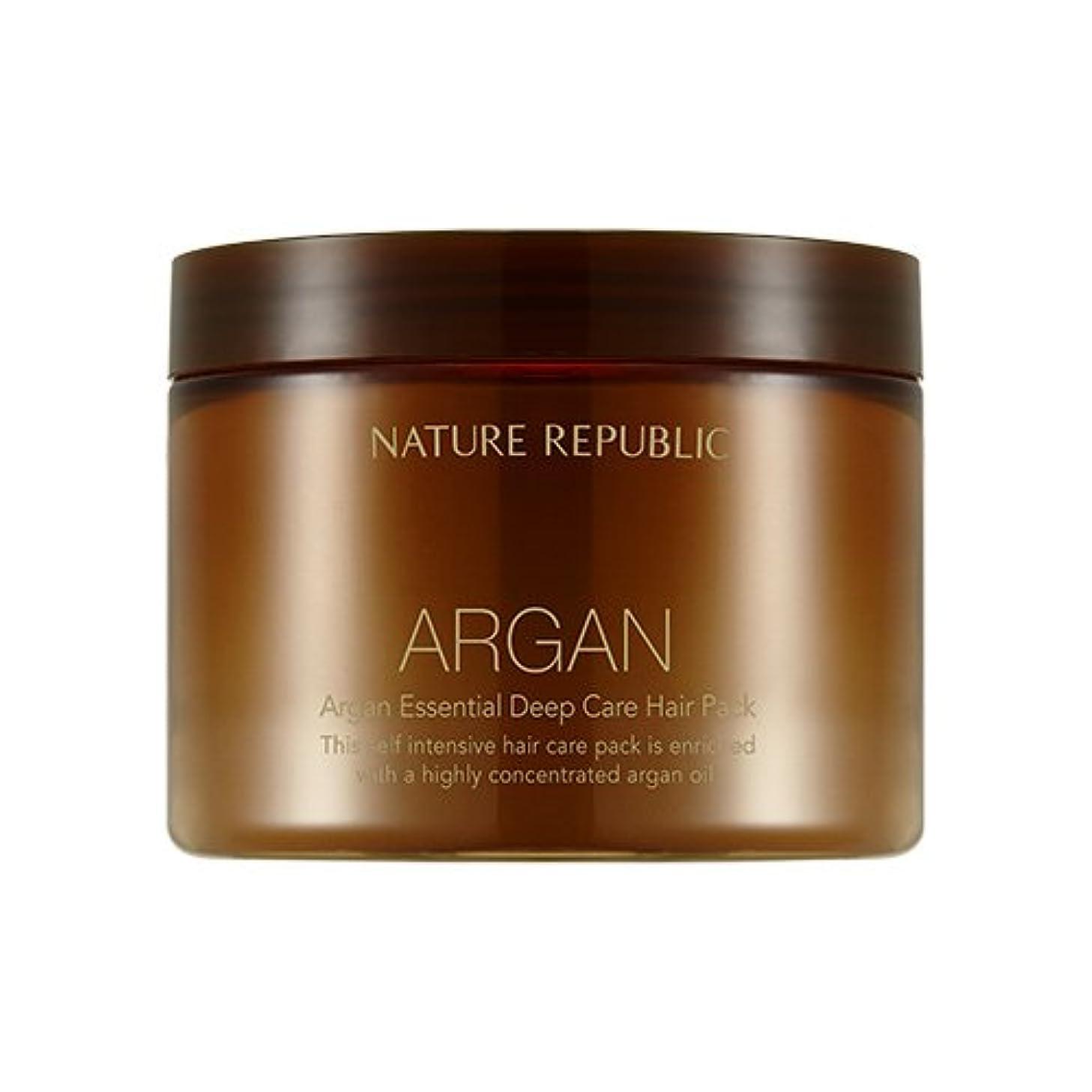トランザクション閉じ込めるインドNATURE REPUBLIC Argan Essential Deep Care Hair Pack 470ml ネイチャーリパブリック アルガンエッセンシャルディープケアヘアパック 470ml [並行輸入品]