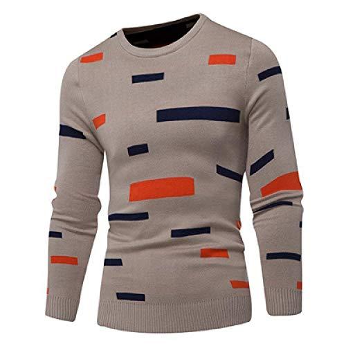 Otoño Invierno Hombres Suéteres Moda Cálidos Deportes De Punto Jersey De Cuello Alto Hombre Silm Fit...