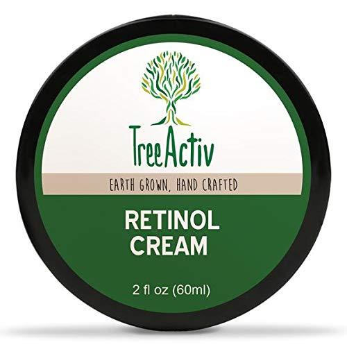 TreeActiv Retinol Cream, Anti-Aging Day & Night Cream, Deeply Hydrates and Targets Wrinkles & Fine Lines, Retinol, Hyaluronic Acid, Hydrovance, Provitamin B5, Jojoba Oil, Carrot Cells (2 fl oz)