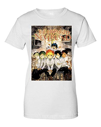 George Graphics The Promised Neverland Anime Artwork Camiseta de Mujer Small