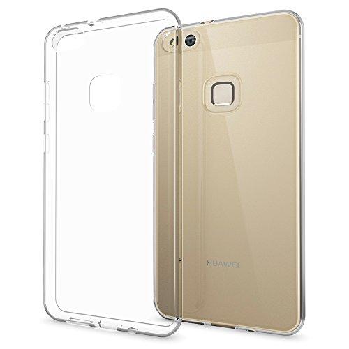 NALIA Custodia compatibile con Huawei P10 Lite, Cover Silicone Trasparente Sottile Case, Gomma Morbido Cellulare Ultra-Slim Protettiva Bumper Telefono Guscio - Trasparente