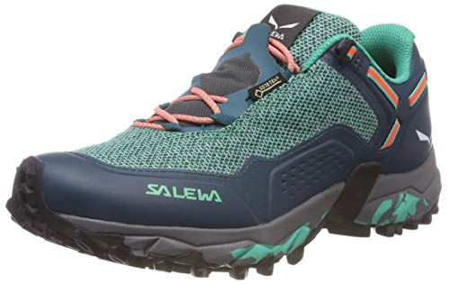 Salewa WS SPEED BEAT GTX, Damen Traillaufschuhe, Grün (Shaded Spruce/fluo Coral 8631), 41 EU (7.5 UK)