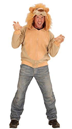 Karneval-Klamotten Löwe-n Kostüm Herren Erwachsene Löwe-Jacke Karneval Tier-Kostüm Herren-Kostüm Einheitsgröße