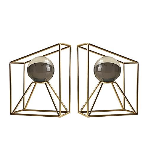 Sujetalibros Sujetalibros de Metal con Bola de Cristal, Diseño Tridimensional, Sujeta Libros Tapón de Libro para Libros, DVD, revistas, 1 Pare
