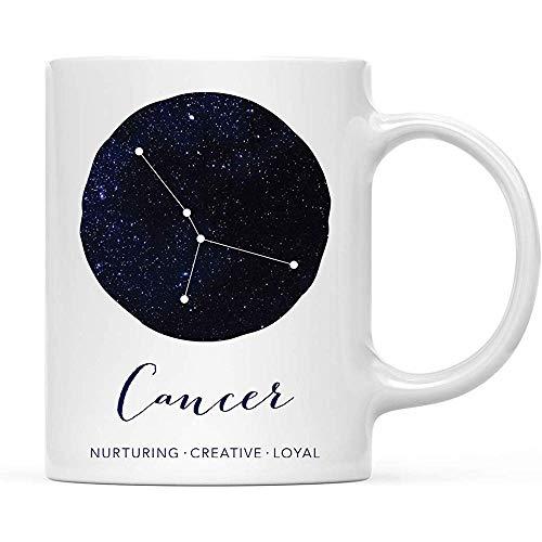 Sterrenbeeld sterrenbeeld 11 oz. Koffiemok cadeau, kreeft kenmerken sterrenbeeld Galaxy, 1 stuks
