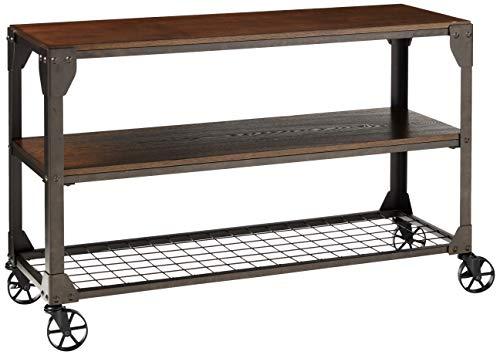 Furniture of America Kastas Sofa Table, Black