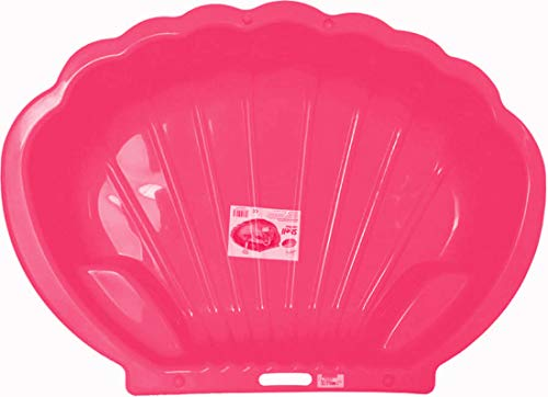thorberg Sandbox Sandkasten Sandmuschel Muschelform groß 108x79cm XL, Für Tiere geeignet! (rosa)