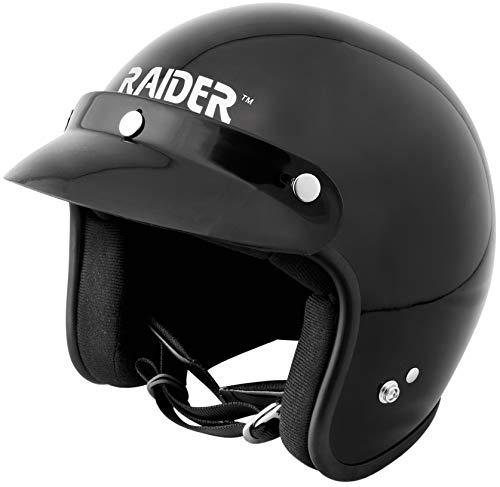 Raider 26-611-13 Journey Gloss Black Small Adult Open Face Helmet