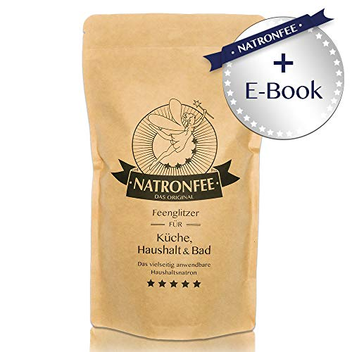 Natron Backpulver bzw. Baking Soda – Extra feines Natron-Pulver zum Backen und Kochen – inklusive E-Book mit Rezepten - Natriumhydrogencarbonat E500 (ii), 1000g. In Deutschland hergestellt.