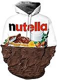 NEWCOSPLAY Unisex Realistic 3D Digital Print Pullover Hoodie Hooded Sweatshirt Lion (S/M, Nutella)