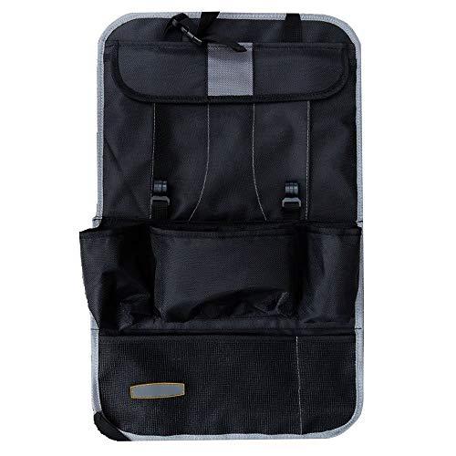 AWJ 2 Pezzi seggiolino Auto Sedile Posteriore Organizer Tasca Sedile Posteriore protettore Custodia per Tablet Supporto Tablet Tappetino Porta...