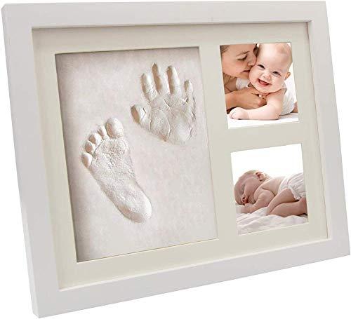 Marco de Fotos de bebé, impresión de pies a Mano Bebé Handprint Foot Foot Frame Frame Souvenirs