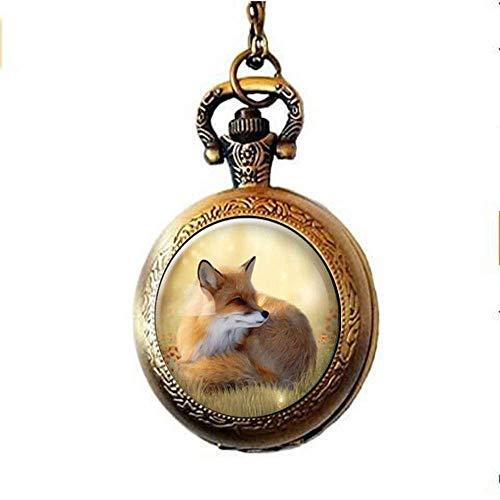 Süßer Fuchs Taschenuhr-Halskette, romantische Geschenkidee für Sie, Frauenschmuck, personalisierte Geschenke