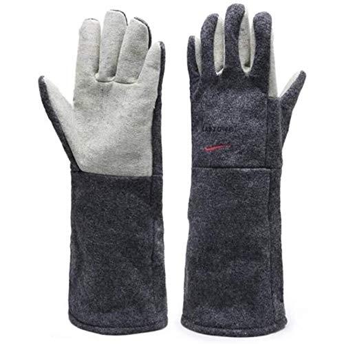 WFSH Sicherheitsarbeiten Handschuhe Hochtemperaturresistente Handschuhe 300 ° Ofenofen Schutzhandschuhe 45 cm, Schnittfestigkeit/verschleißfest/Wärmedämmung