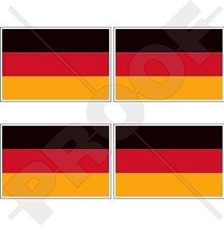 DEUTSCHLAND Deutsche Flagge Deutschland 50mm Auto & Motorrad Aufkleber, x4 Vinyl Stickers