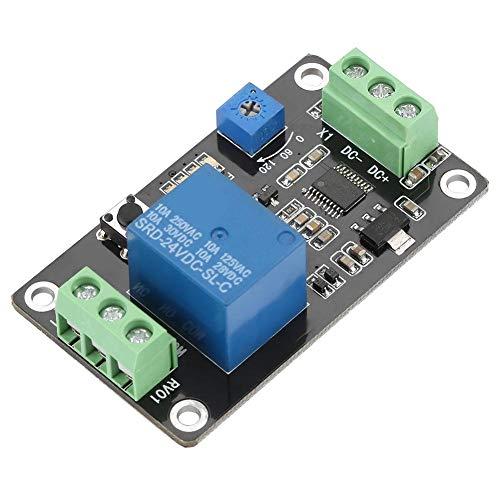 Temporizador de retardo Módulo de relé Retardo Encendido Apagado Autoblocante Controlador de tiempo Tarjeta de interruptores DC 5V / 12V / 24V(DC24V)