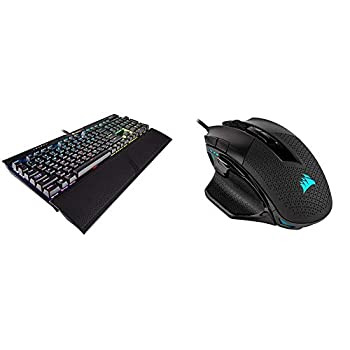 Corsair K70 RGB MK.2 Mechanical Gaming Keyboard - USB Passthrough & Media Controls - Cherry MX Brown & Nightsword RGB - Comfort Performance Tunable FPS/MOBA Optical Ergonomic Gaming Mouse