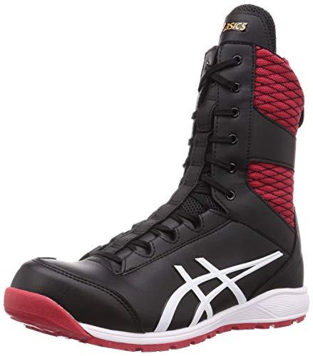 [アシックス] ワーキング 安全靴/作業靴 ウィンジョブ CP403 TS 2E相当 JSAA A種先芯 耐滑ソール fuzeGEL搭載 高所作業 メンズ ブラック/ホワイト 26.0