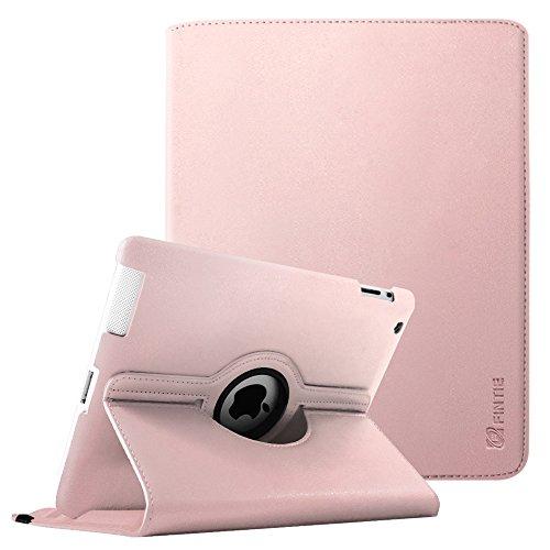 Fintie Hülle für iPad 2 / iPad 3/ iPad 4, 360 Grad verstellbare Schutzhülle Cover mit Standfunktion, Auto Sleep/Wake für iPad mit Retina Display (iPad 4. Generation), iPad 3 & iPad 2, Roségold