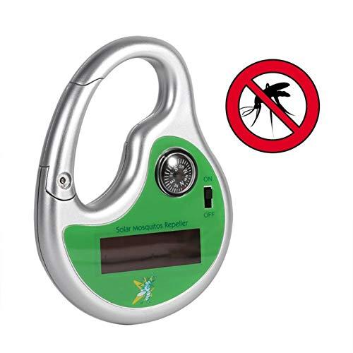 WHwot Repelente De Mosquitos Electrónico Portátil, Repelente De Ratones De Carga Solar con Brújula, Repelente De Ratas para Insectos, Ratones, Hormigas, Roedores, Cucarachas