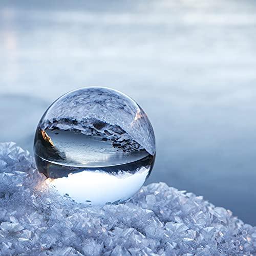 NinkBox Bola de Cristal K9, 80mm Bola de Cristal Fotografia con Soporte, Bola Cristal Transparente...