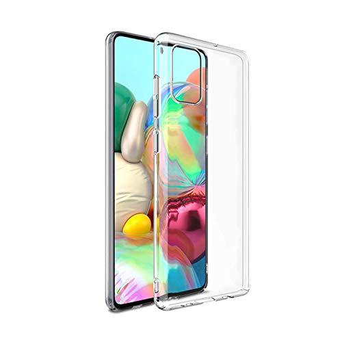 NEW'C Kompatibel mit Samsung Galaxy A71 Hülle, Ultra transparent Silikon Gel TPU Soft Cover Hülle SchutzKratzfeste mit Schock Absorption & Anti Scratch