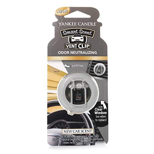 Yankee Candle 1312850E Deodoranti per Auto, Smart Scent Vent Clip, New Car Scent