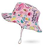 JUPSK Cappello da Pescatore per Bambini, Cappello da Sole per Bambini Cappello da Pesca per Bambine UV Cappello da Spiaggia con Protezione Cappello Estivo da Uomo Bambini