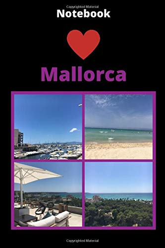 """Notebook Love Mallorca: Wide Ruled Lined Notebook / Journal Gift, 120 Pages, 6\"""" x 9\"""""""