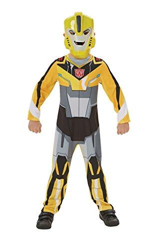 """Rubie's offizielles Produkt, Filmkostüm aus """"Transformers"""" Motiv """"Bumblebee"""", zum Verkleiden für Kinder"""