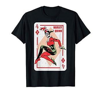 DC Comics Batman Harley Quinn Playing Card T-Shirt