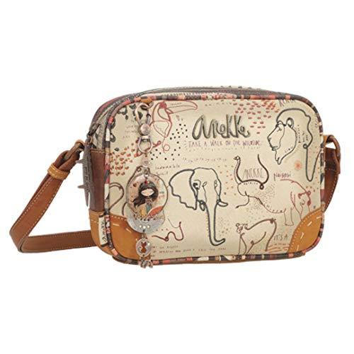 Anekke | Bolso bandolera rectangular Safari Fusion | Moderno, Casual y a la Moda | Para Mujeres | Tamaño Ideal para Ocasiones Especiales o para el Día a Día