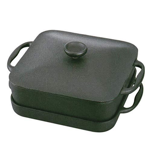 岩鋳Iwachuスクエアパン浅型鍋・深型鍋セット黒焼付IH対応南部鉄器21700
