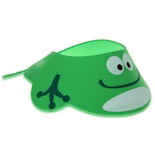 TOOGOO(R) Bambino Ragazzo Bambino piccolo Bagno Doccia berretto Cappello lavaggio Capelli Shampoo Scudo Regolabile dell verde